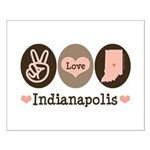 Peace Love Indianapolis Small Poster