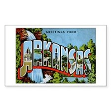 Arkansas Postcard Rectangle Decal
