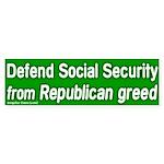 Defend Social Security Bumper Sticker