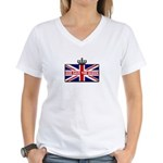 God Save The Queen Women's V-Neck T-Shirt