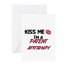 Kiss Me I'm a PATENT ATTORNEY Greeting Cards (Pk o