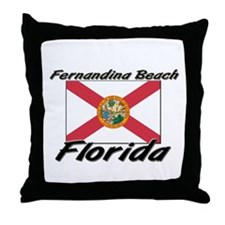 Fernandina Beach Florida Throw Pillow
