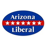 Arizona Liberal Oval Car Sticker