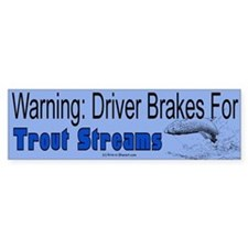 Trout Fishing Bumper Bumper Sticker