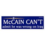 McCain Can't Admit He Was Wrong on Iraq