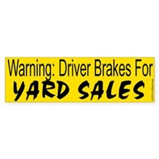 Yard Sale Bumper Bumper Sticker
