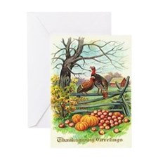 White Tom Turkey Greeting Card