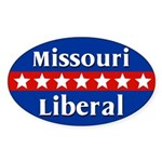 Missouri Liberal Oval Car Sticker