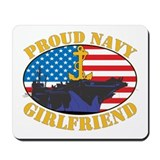 Proud Navy Girlfriend Mousepad