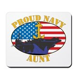 Proud Navy Aunt Mousepad