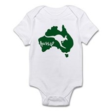 aussie_roo_green_white-T Body Suit