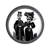 DAy Of Dead Couple Wall Clock