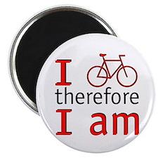 """I Bike Therefore I Am 2.25"""" Magnet (100 pack)"""