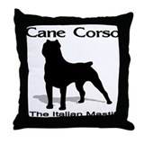 Cane Corso BW Throw Pillow