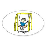 Swinger Swing Set! Oval Decal