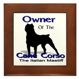 Cane Corso Owner Framed Tile