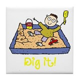 Dig It! Sandbox Tile Coaster