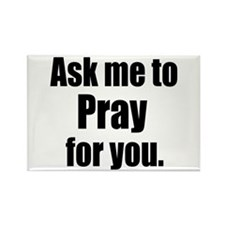 Ask Me to Pray for You Rectangle Magnet (100 pack)