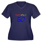 Nifty at Fifty Apparel Women's Plus Size V-Neck Da
