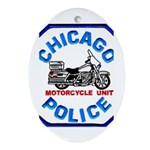 Chicago PD Motor Unit Oval Ornament