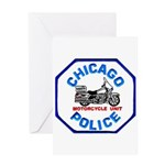 Chicago PD Motor Unit Greeting Card