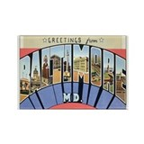 Baltimore Maryland Postcard Rectangle Magnet