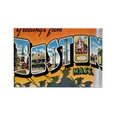 Boston Postcard Rectangle Magnet