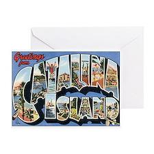 Catalina Island Postcard Greeting Card
