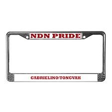 Gabrielino Tongvah NDN Pride License Plate Frame