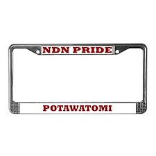 Potawatomi NDN Pride License Plate Frame