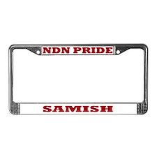 Samish NDN Pride License Plate Frame