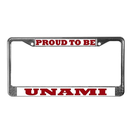 Proud to Be Unami License Plate Frame