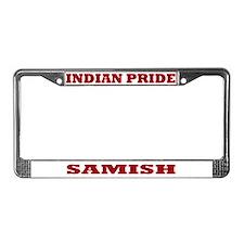 Indian Pride Samish License Plate Frame