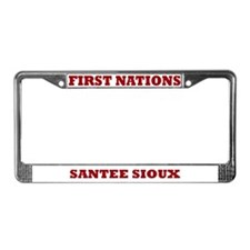First Nations Santee Sioux License Plate Frame