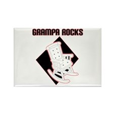 Grampa Rocks Rectangle Magnet