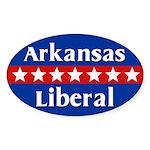 Arkansas Liberal Oval Car Sticker