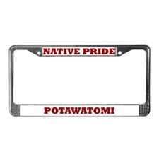 Native Pride Potawatomi License Plate Frame