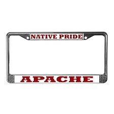 Native Pride Apache License Plate Frame