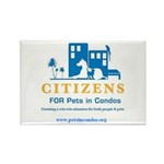 Pets in Condos Rectangle Magnet (100 pack)