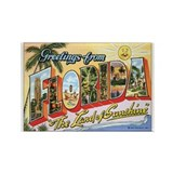 Florida Postcard Rectangle Magnet
