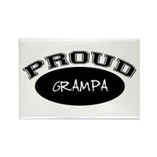 Proud Grampa (black) Rectangle Magnet