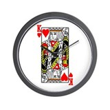 King Of Hearts Wall Clock