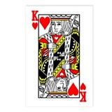 King Of Hearts Postcards (Package of 8)