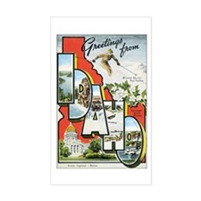Idaho Postcard Rectangle Decal