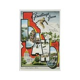 Idaho Postcard Rectangle Magnet