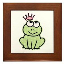 Frog Princess Framed Tile