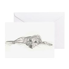 Cute Yellow labrador Greeting Cards (Pk of 20)