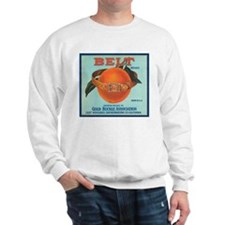 Vintage Belt Oranges Fruit Cr Sweatshirt
