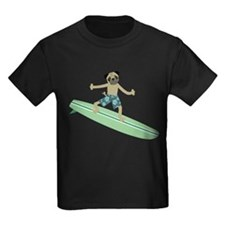 Pug Dog Surfer T