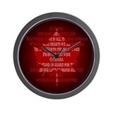 Canada Anthem Souvenir Wall Clock